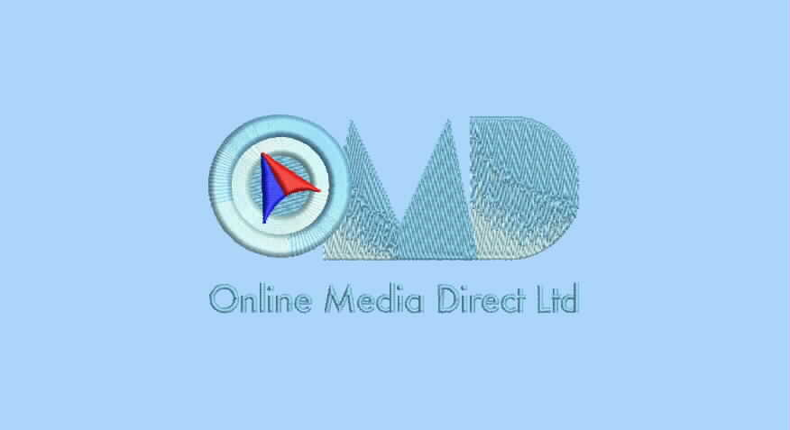 Embroidered logo of Online Media Direct