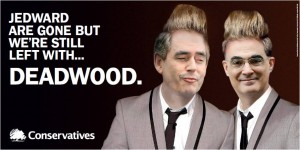 Conservative Jedward Gordon Brown Darling poster election 2010