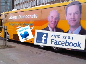 Mock Battle Bus liberal democrats on twitter and facebook