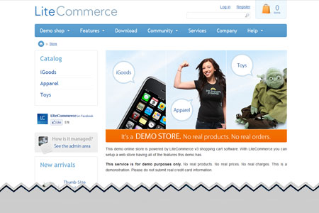 LiteCommerce Ecommerce Shopping Cart Software
