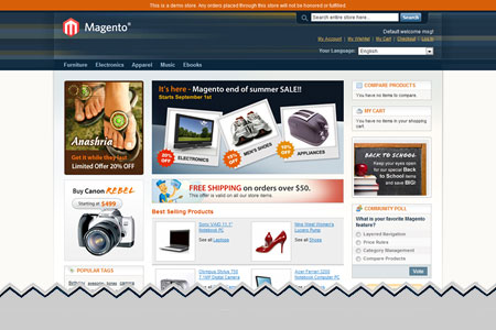 Magento Ecommerce Shopping Cart Software