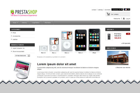 PrestaShop Ecommerce Shopping Cart Software