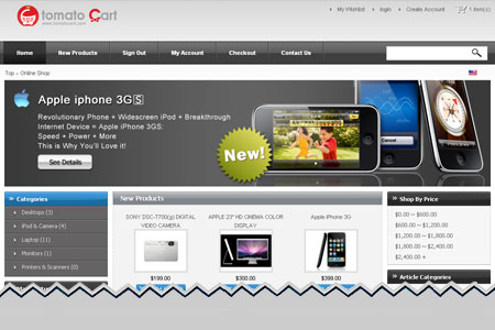 TomatoCart Ecommerce Shopping Cart Software