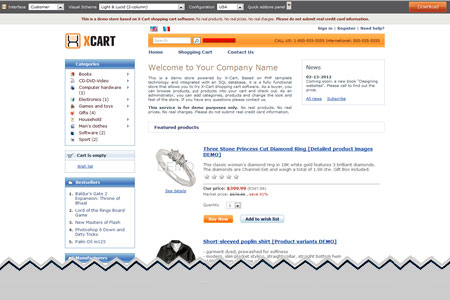 X Cart Ecommerce Shopping Cart Software